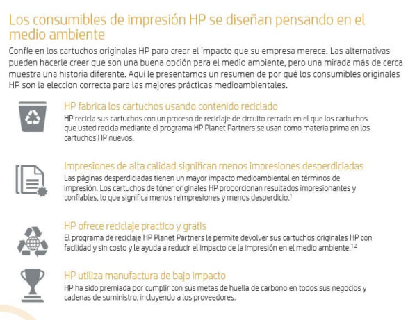 Consumibles pensados en el medio ambiente - HP Planet Partners