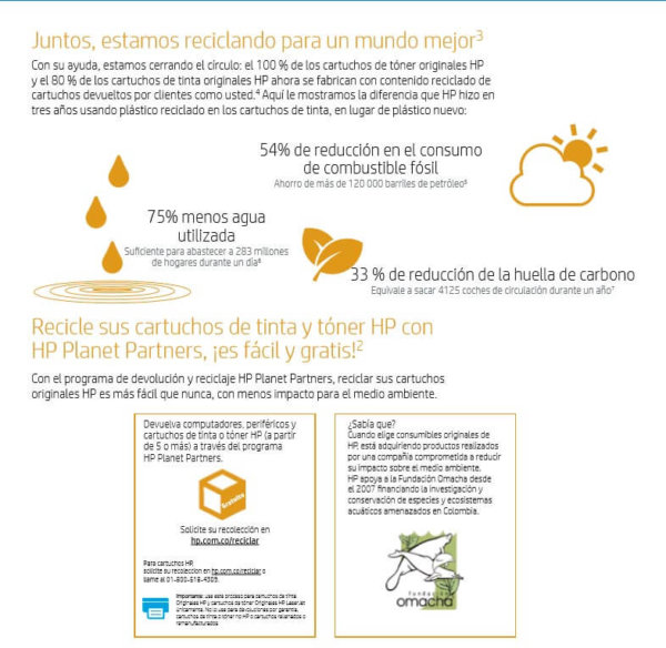 Recicle cartuchos de tinta y toner - HP Planet Partners