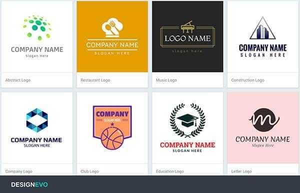 designevo-logo-ejemplos-600x386 DesignEvo editor online gratuito para diseñar logos