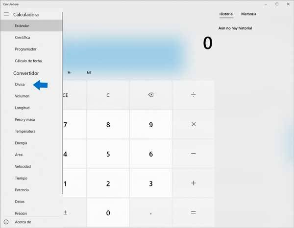 Tutoriales para Windows 10: Calculadora Divisas WIndows 10