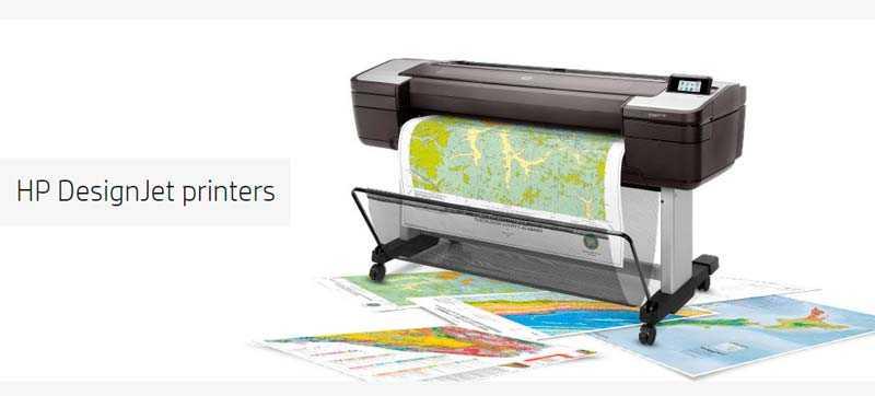 HP DesignJet T1700 -la impresora de gran formato para mapas GIS con seguridad avanzada