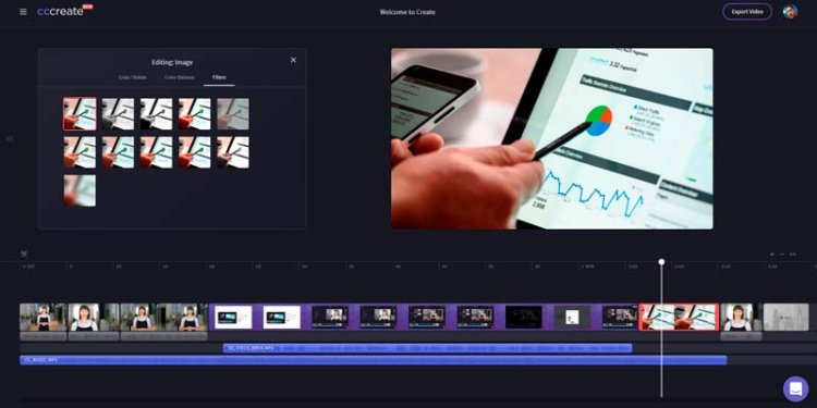 Editar videos desde el navegador con CCCreate