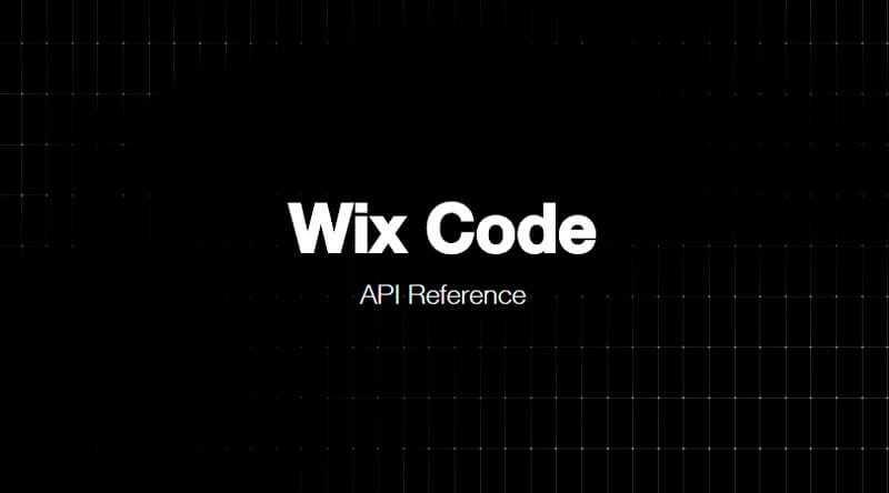 WixCode API Reference