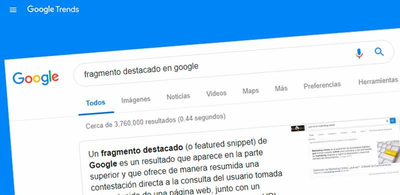 Fragmento destacado o featured snipped - SEMrush