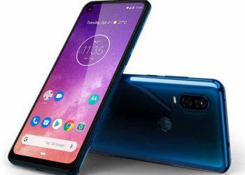 Se muestra el Nuevo Motorola One Vision en color Azul