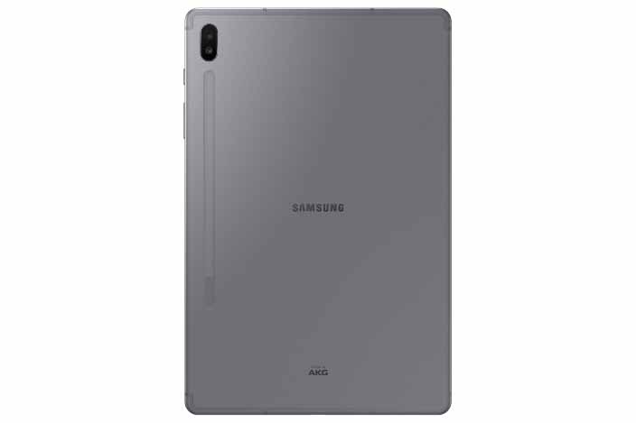 Galaxy Tab S6 vista trasera